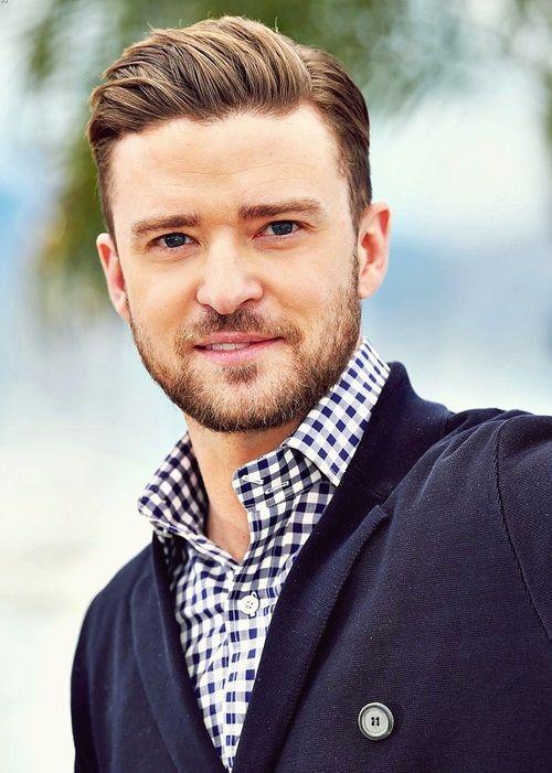Hair for Men   Justin Timberlake's slicked back hair + beard combo
