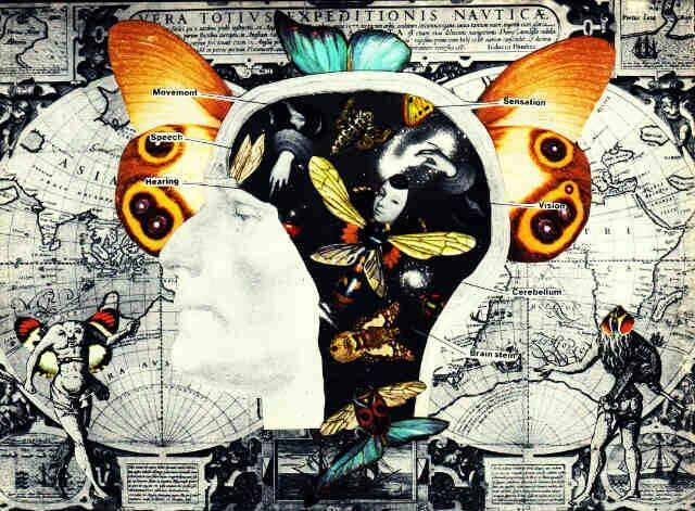 Psychosomatic #collage #art #cutandpaste #papercollage