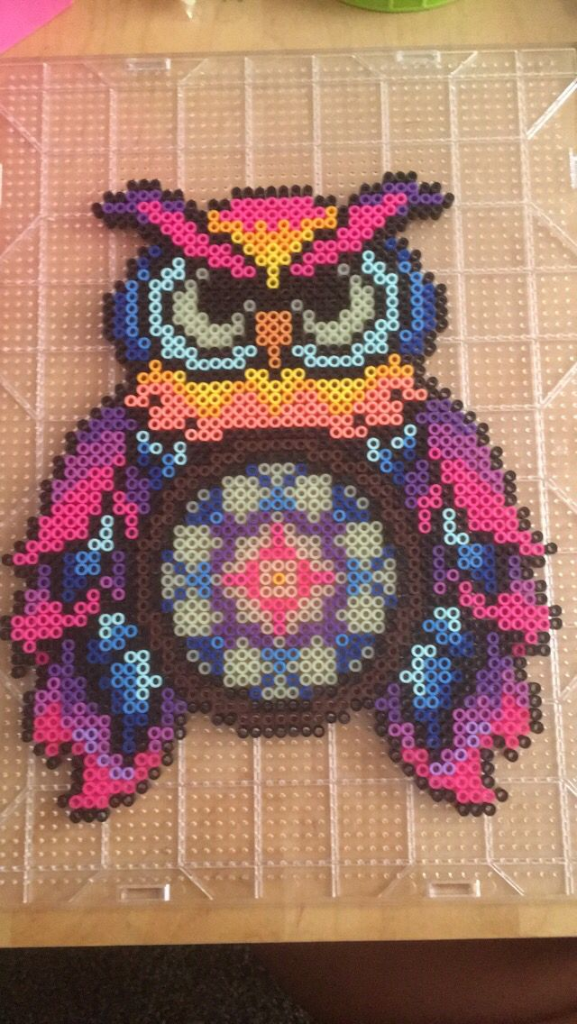 Edc owl Perler Edc2016 Dream catcher Colorful Owl