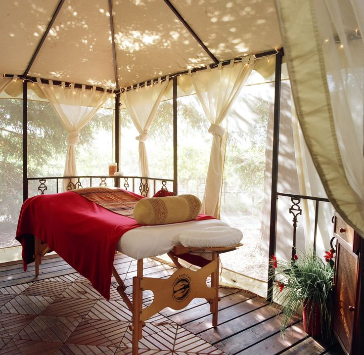 I've been thinking of doing something like this, it's the idea I see when I see me in my own place. Having a space outside that I can do healing. Near the Earth and Nature. Ideal for me. Source: Google Image Result for http://ww1.prweb.com/prfiles/2011/07/11/9483785/Havest%2520Inn%2520Cabana%2520Massage%2520Tent.jpg