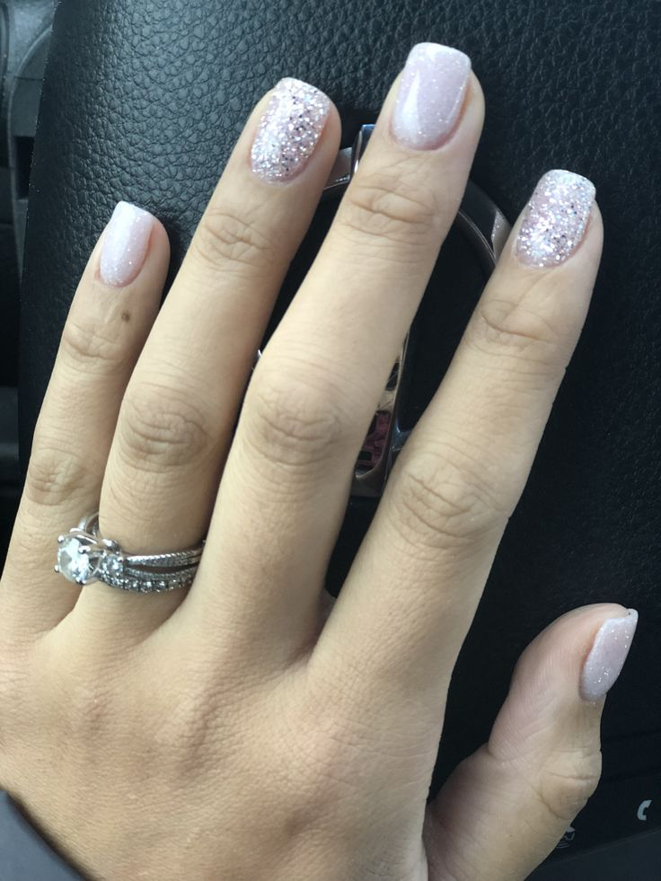 Holiday nail color #nailstyle #sparkles #SNS