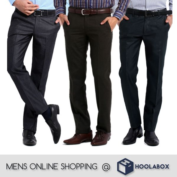 Buy men's trousers online at #hoolabox. Shop online for #casual, & #formal pants, #trousers, #chinos for men at best prices. You can find the entire top brand products here with fabulous deals and discounts.  Please Visit :- http://hoolabox.com/163-trousers