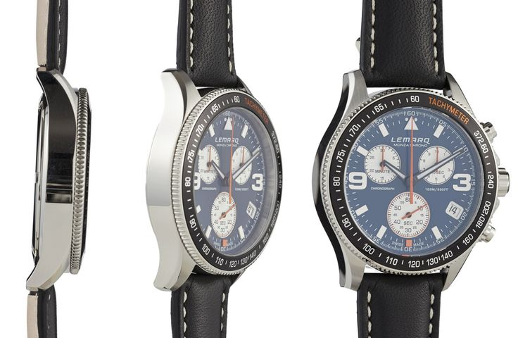 Swiss Made Racing Chronograph. See the 360° view at http://www.lemarqwatches.com/.