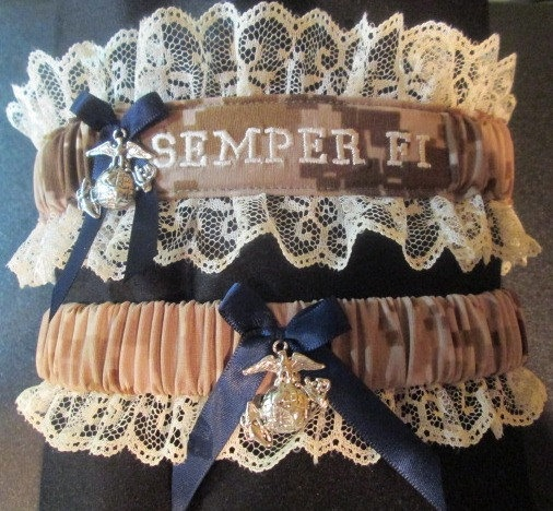 US Marine Set With Semper Fi Embroidered On It By CreativeGarters, $28.00