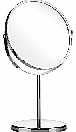 Bathroom Mirrors Home Solutions Round Swivel Table Mirror On Stand Free Standing Shaving And Makeup Chrome