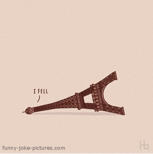 Eiffel Tower Funny Cartoon Picture France Paris