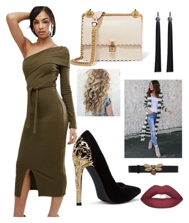 """new trend"" by sweetdollanjali on Polyvore featuring Lavish Alice, Fendi and Gucci"
