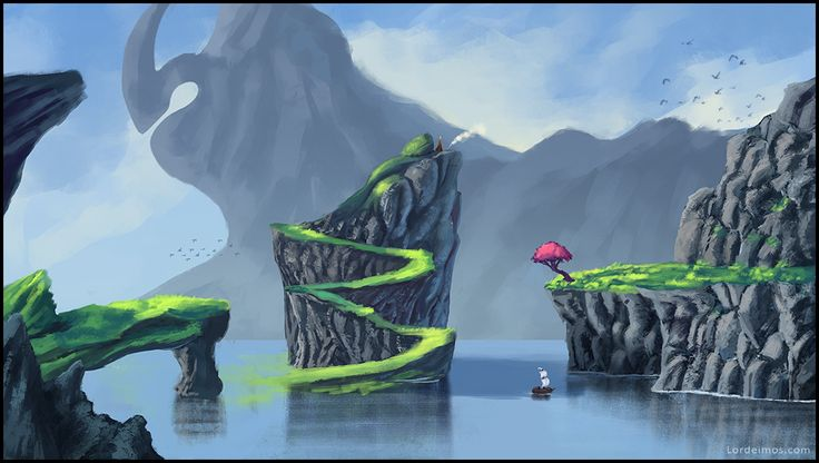 Water and mountains and stuff. ver 2 by LorDeimos.deviantart.com on @DeviantArt