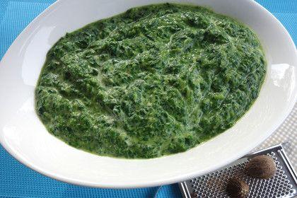 Rahmspinat aus frischem Spinat