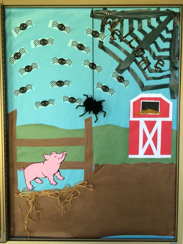 Up Classroom Decor : Charlotte s web bulletin board keeping up with classroom
