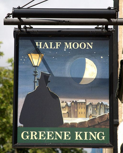 Half Moon Pub sign - Cambridge, England