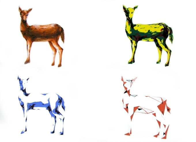 deer simplification process  #art #deer #painting #simplification #design