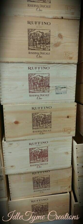 Wine Crate Ruffino Riserva Ducale Oro Tuscany by IdleTymeCreations
