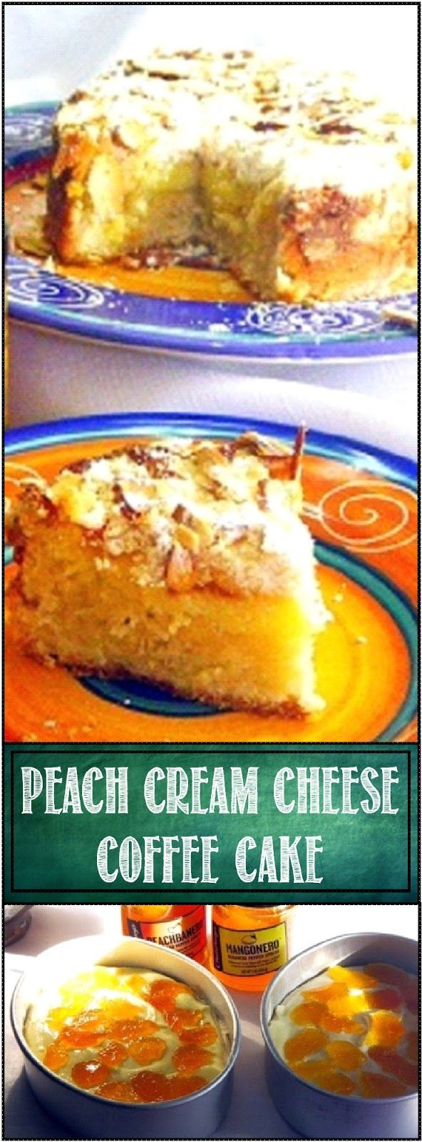 Peach Cream Cheese Coffee Cake ala One Perfect Bite... OH YUMMY... I made a SPICY Coffee Cake with a peachHABANERO Jam.  But this recipe works with any Jam... Store bought or home made.  The cake is moist and tender and DELICIOUS!  Use your imagination and make the coffee cake of your dreams with this recipe