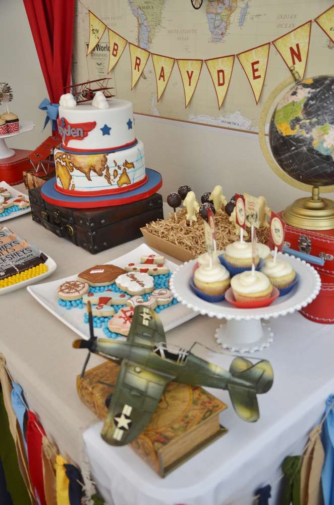 Airplane Birthday Party treats!  See more party planning ideas at CatchMyParty.com!
