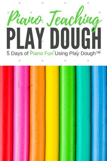 5 Days of Piano Teaching Fun Using Play Dough! | Teach Piano Today