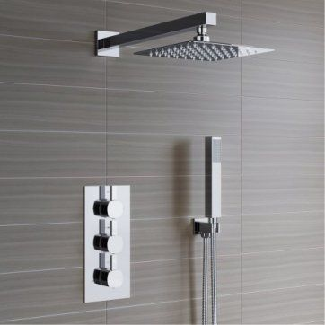 Rainfall Square Thermostatic Concealed Shower 200mm Head [PT- SS3WCSQ02] - £299.99 : Platinum Taps & Bathrooms