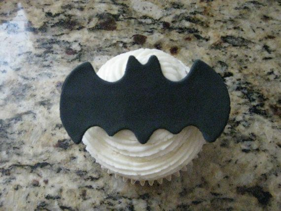 Batman Cupcake Accents   Cake Decoration by PeaceLoveandCakeNY, $6.99