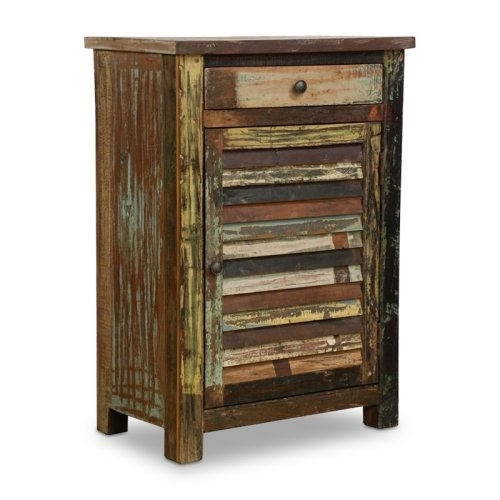 Find it at the Foundary - Vintage Multi-Colored Shutter TableWood Cabinets, Shutters Doors, Ideas, Reclaimed Wood, Multi Colors, Repurpoed Shutters, Doors Cabinets, Furniture, Shutters Cabinets