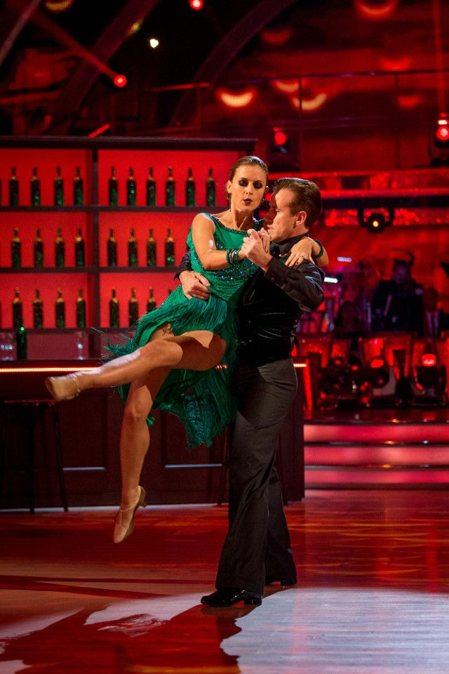 Strictly Come Dancing week 10, 2015. Katie Derham & Anton du Beke. Argentine Tango. Credit: BBC / Guy Levy