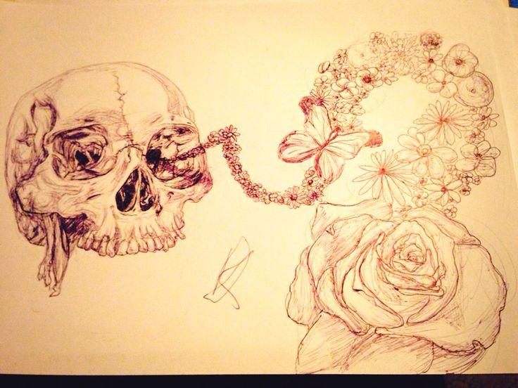 Easy #skull #drawing