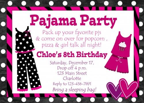 Sleepover Birthday Party Invitations for best invitation template