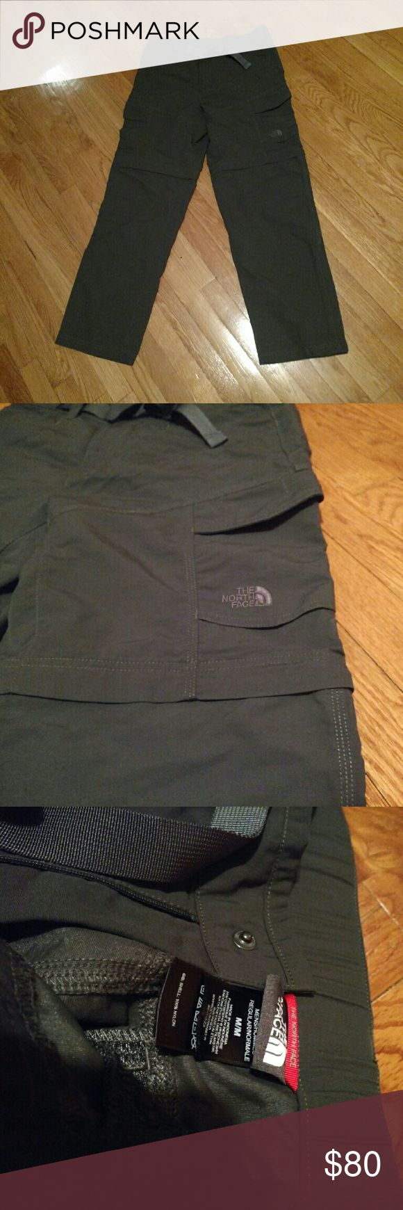 North Face Men's Convertible Hiking Pants NWOT Pant legs unzip at knees, morphing into shorts, creating the ultimate transitional hiking pant/short combination. DWR (durable water repellent) finish to shed moisture and keep the midweight abrasion-resistant nylon exterior dry when exposed to light rainfall. Elastic waistband at back with front webbed belt closure. This product contains over 90% bluesign? approved fabric?a standard for environmentally responsible production.  Brand new pants…