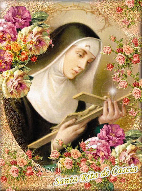 Santa Rita de Cascia, Viuda y Religiosa   Mayo 22   Viuda, Religiosa, y Abogada de Imposibles    Vista de cerca, sin el  halo de la leyen...