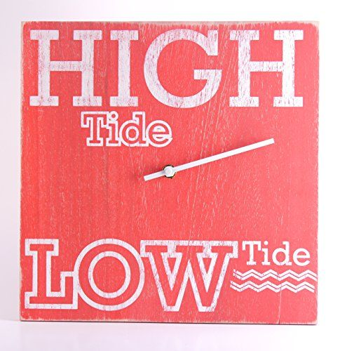 Tide Clock - Handmade Distressed Nautical Red - Coastal Gift  //Price: $ & FREE Shipping //     #sports #sport #active #fit #football #soccer #basketball #ball #gametime   #fun #game #games #crowd #fans #play #playing #player #field #green #grass #score   #goal #action #kick #throw #pass #win #winning