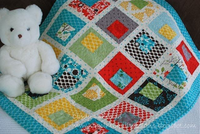 Moda Bake Shop: Building Blocks Baby Quilt Uses layer cake - 20 squares for baby quilt: Quilts Patterns, Baby Quilts, Moda Baking, Building Blocks, Baking Shops, Blocks Baby, Summer Houses, Boys Quilts, Quilts Tutorials
