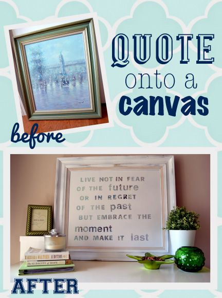 How to put a quote onto canvas with stickers and paint