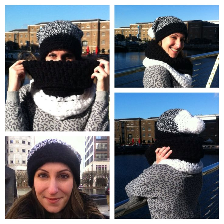 A sunny day in London!!! Katerina with beanie and neckwarmer by fountaki!!!! :D