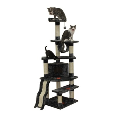 "Kitty Mansions 71"" Shanghai Cat Tree $138 awesome seller, great reviews, 3 colors"