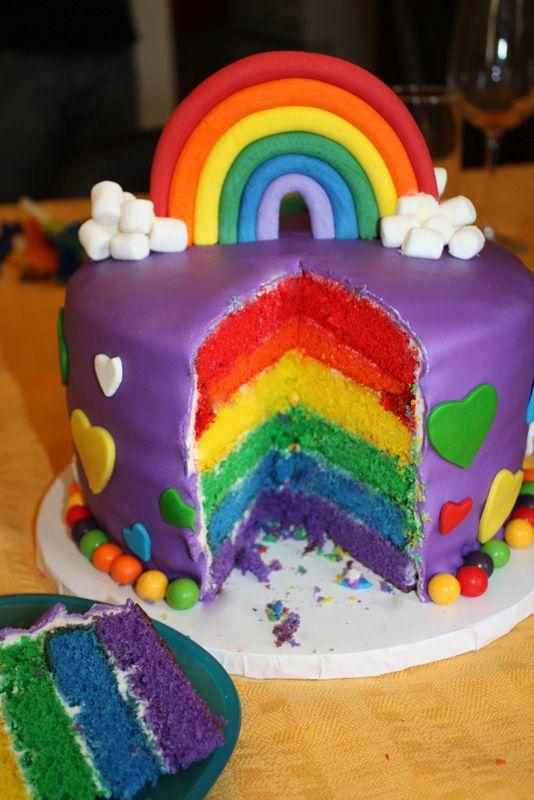 Le gâteau arc-en-ciel d'Elaine et ses meilleurs trucs pour le réussir!