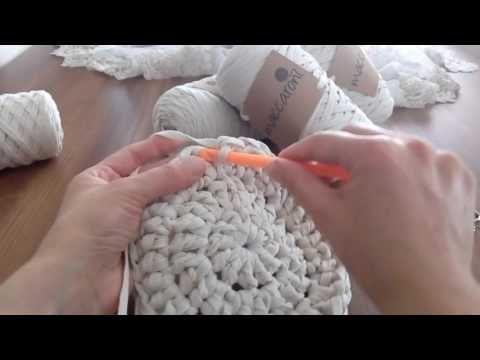 Ribbon ip ile Papatya modeli paspas yapılışı - YouTube
