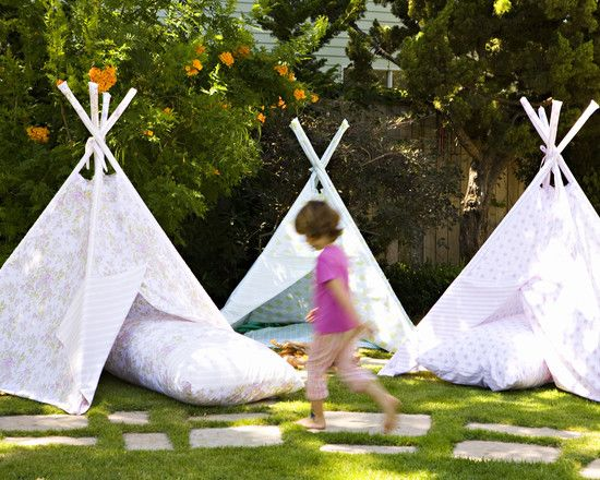 , Eclectic Backyard Landscaping Ideas For Kids Also Adorable Tents For Play: Principle and Tips on Getting a Cheap Back Yard Make Overs