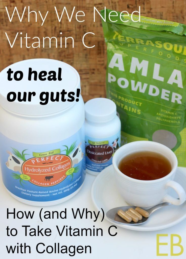 Why it's important to take vitamin C with collagen, and what form of vitamin C to take.