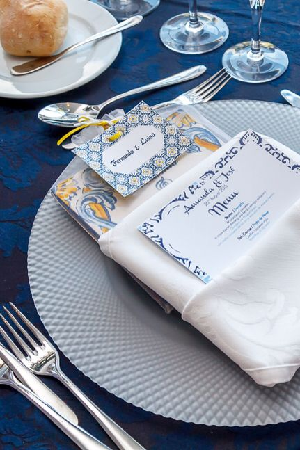 Portuguese theme wedding stationery