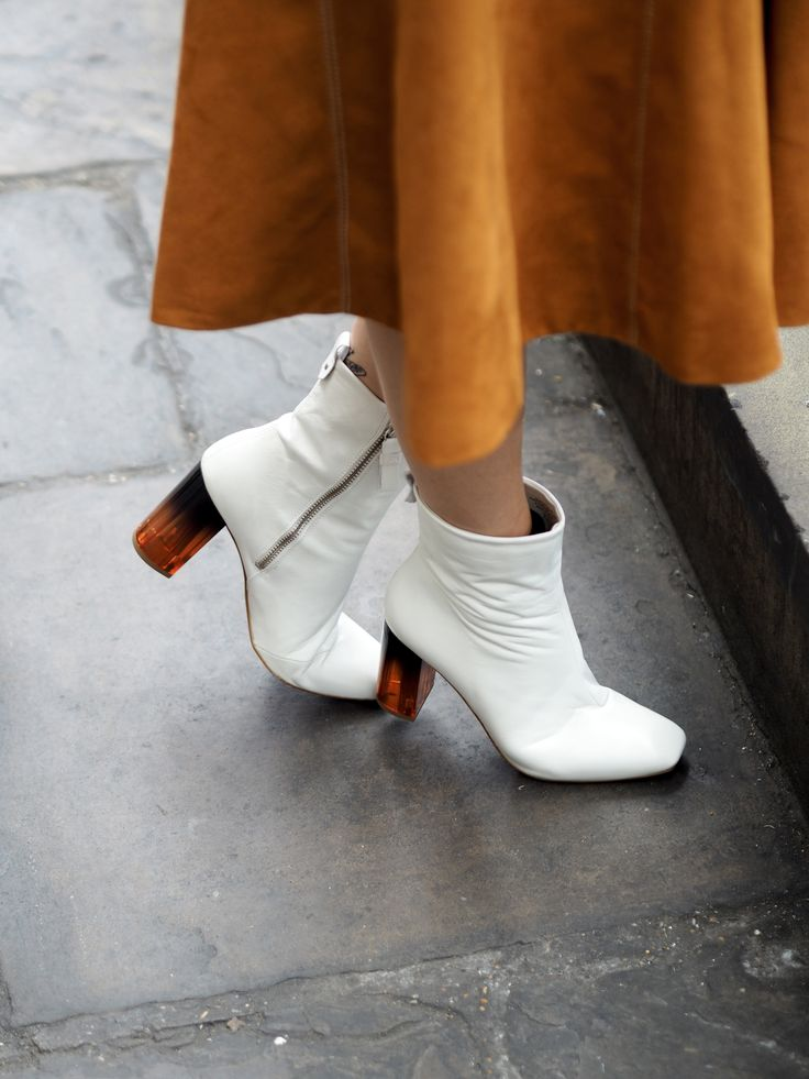 Megan Ellaby wears Kurt Geiger 'Strut' boots