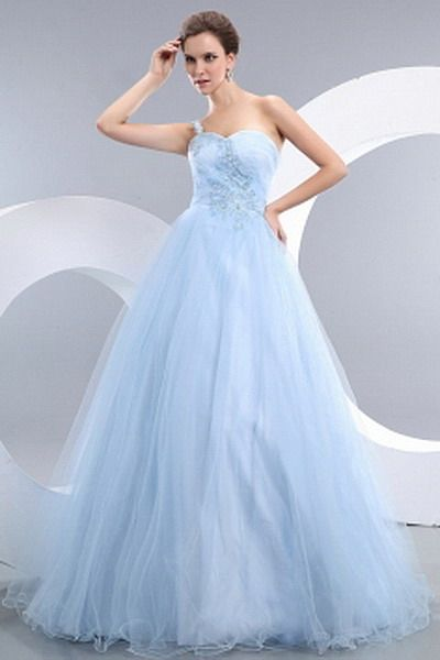 Blue Romantic Ball Gown prom Gowns - Order Link: http://www.thebridalgowns.com/blue-romantic-ball-gown-prom-gowns-tbg7563 - SILHOUETTE: Ball Gown; SLEEVE: Sleeveless; LENGTH: Floor Length; FABRIC: Tulle; EMBELLISHMENTS: Applique , Beading , Ruched , Sequin - Price: 194USD