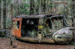 Forgotten Huey (G. Morgenweck) Tags: camera autumn abandoned season photography photo nikon raw decay alabama rusty forgotten processing vehicle enterprise crusty hdr locations 2012 topaz lightroom uh1 photomatix tonemapped d7000