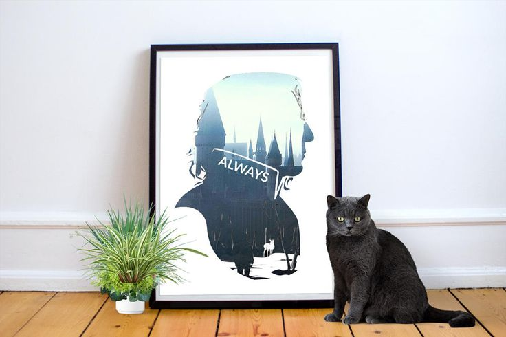 Harry Potter Severus Snape Always Quote Wall Art Printable Novelty Harry Potter Poster Print Movie Wall Art Always Quote Harry Potter by AcePrintsUK on Etsy