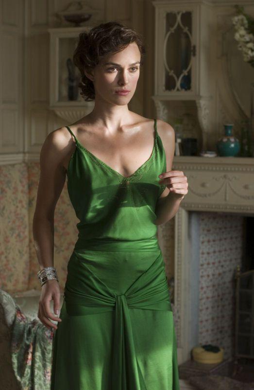 Cecilia Tallis in green dress Atonement Keira Knightley