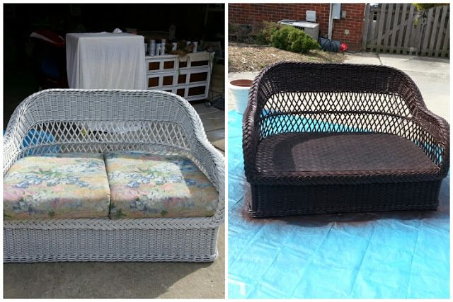 How To Paint Wicker Furniture Diy Is So Fly Pinterest