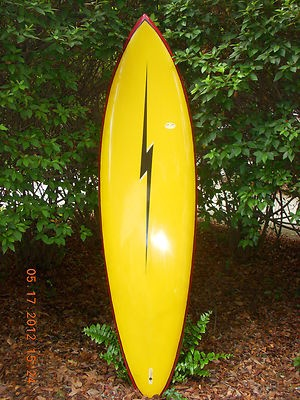 Vintage 70s Era Gerry Lopez Lightning Bolt Surfboard