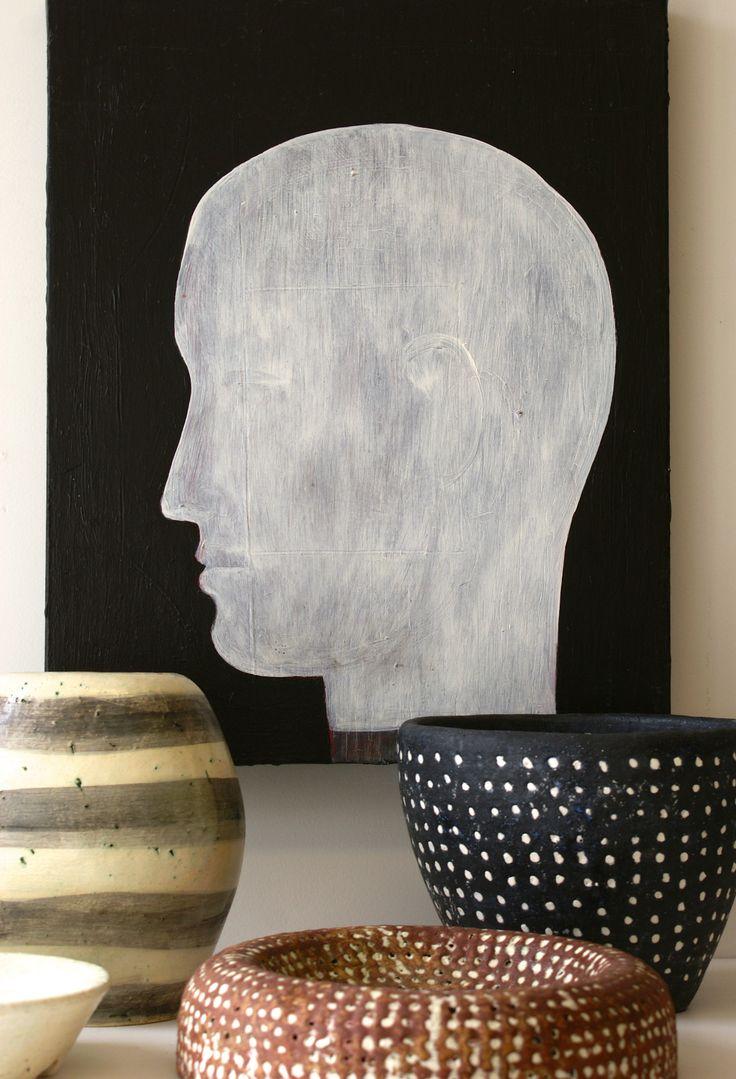 John Eaden - Head in profile (oil on canvas)  @ Visual Culture March 2015