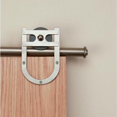 Quiet Glide 3 4 In To 1 1 2 In Horseshoe Satin Nickel Rolling Door Hardware Kit Qg1310hs02 At