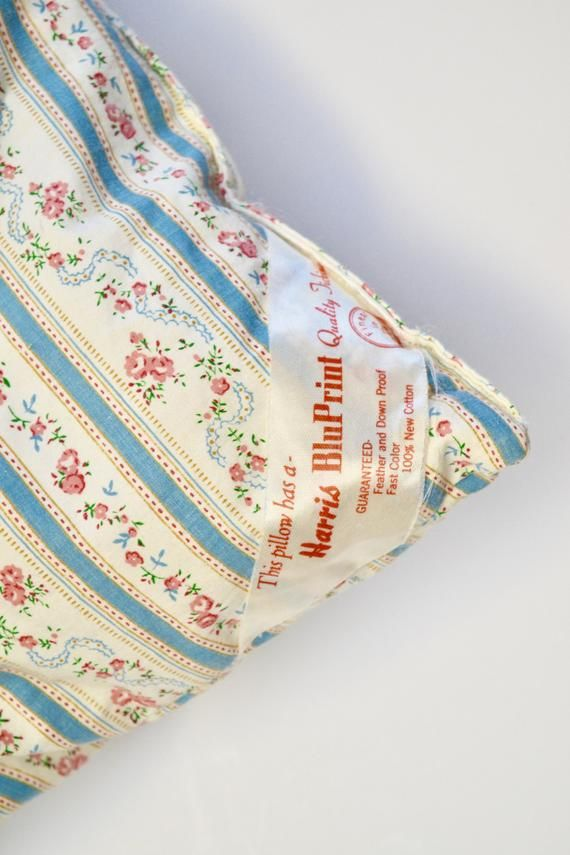 vintage ticking pillow down filled