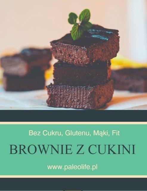Czekoladowe brownie z cukinii (bez mąki, glutenu) - paleolife