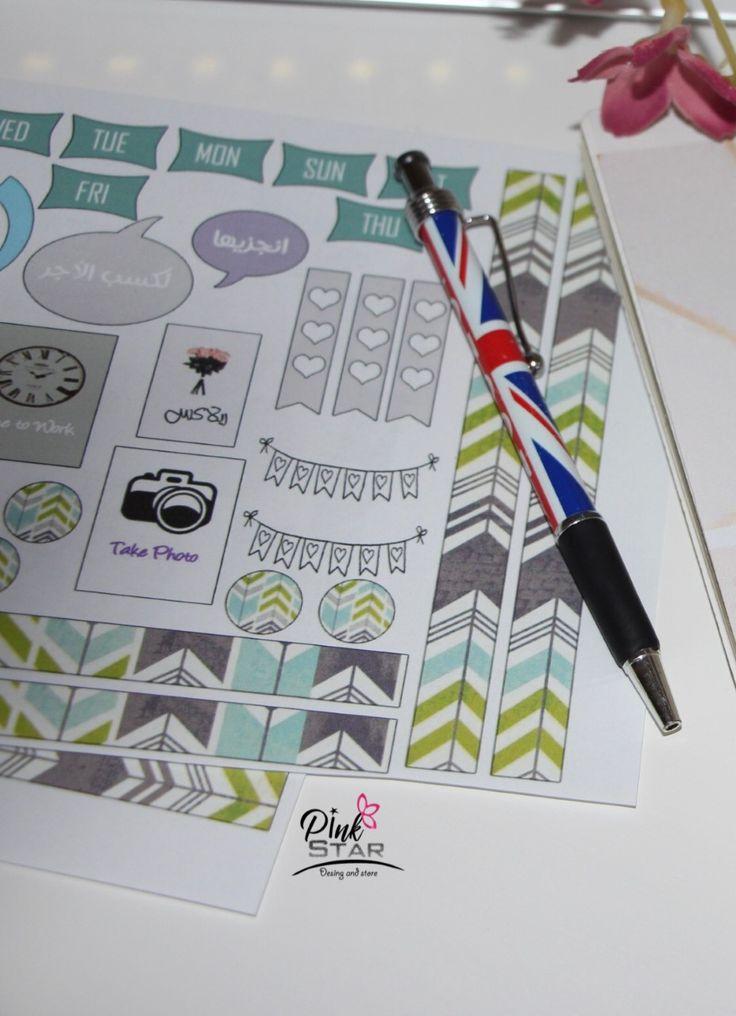 تحميل استيكرات للبلانر Download Stickers For Planners Planner Stickers Sticker Download Pink Stars